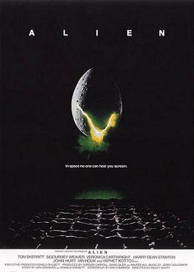 Classic poster of the movie Alien