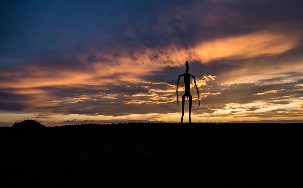 silhouette of an alien
